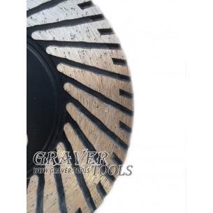Алмазный диск для чистки и резки Ф 115 мм на Фланце М14