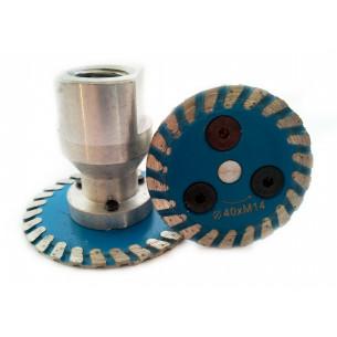Алмазный диск  40 мм с удлиненным фланцем М14