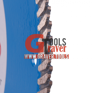 Круг алмазный отрезной по бетону Turbo 230x2,6x9x22,23 Baumesser Beton PRO
