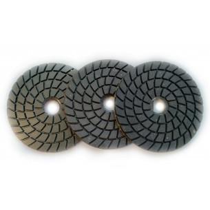 Черепашки 3 номера для полировки гранита (черные)